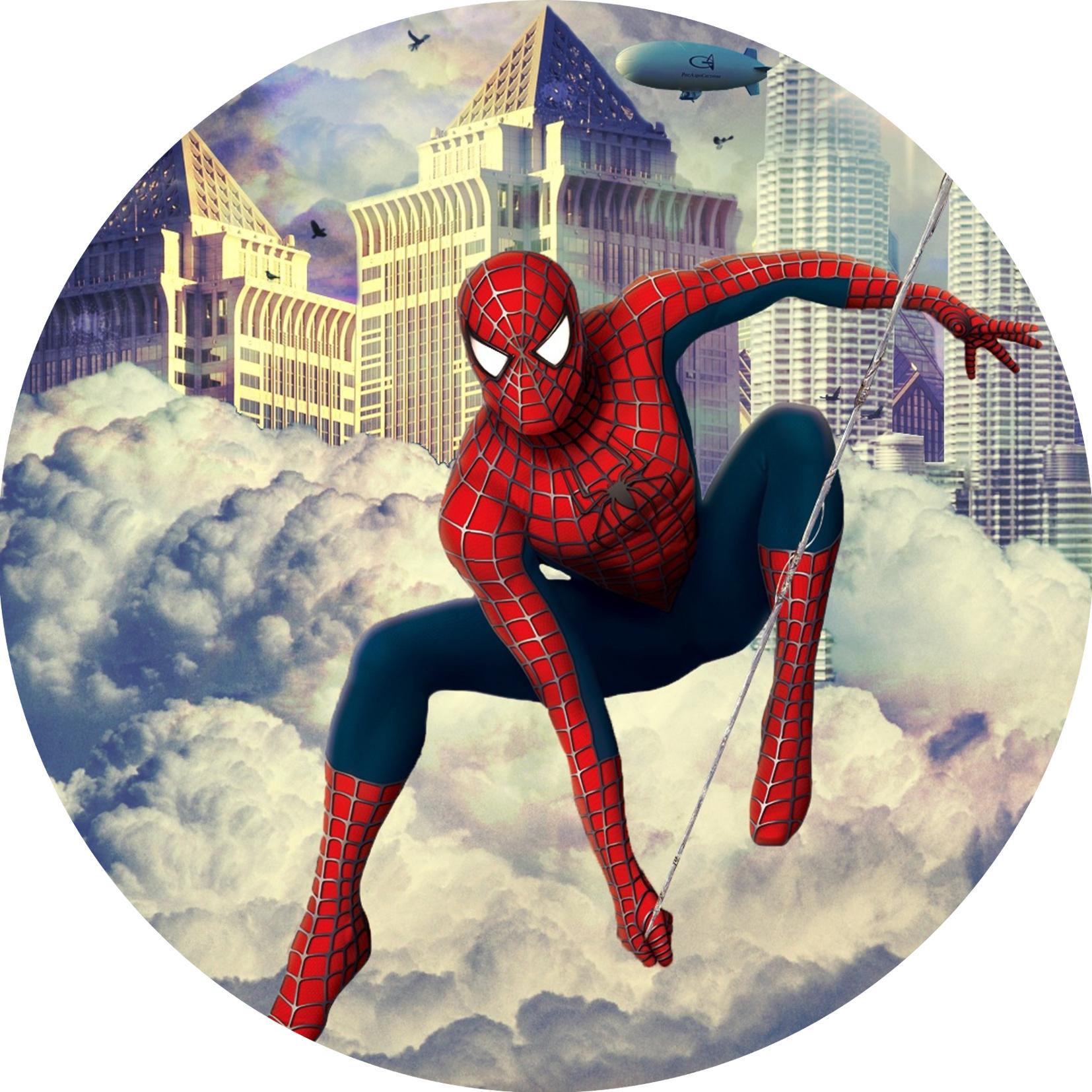 """Сладкая картинка """"Человек-паук"""""""